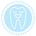 happy tooth icon Townsend Family Dental Center in Hinesville, GA